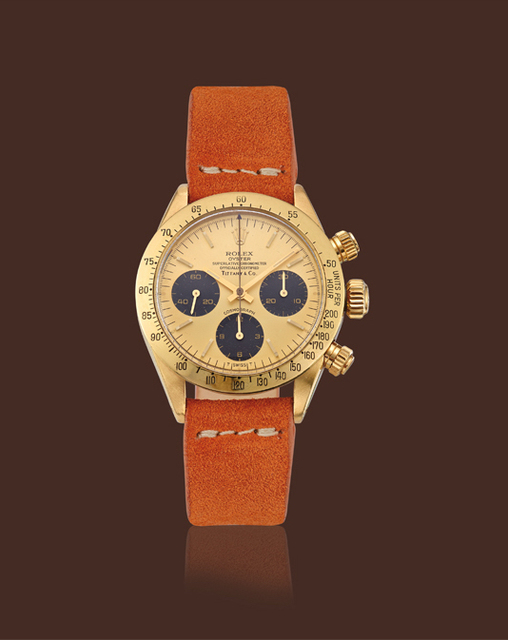 , 'Yellow gold, ref. 6265 Daytona chronography retailed by Tiffany & Co.,' , Davide Parmegiani Fine Watches