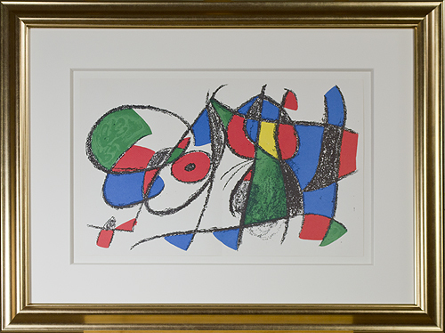 ", 'Original Lithograph VIII from ""Miro Lithographs II, Maeght Publisher"",' 1975, David Barnett Gallery"