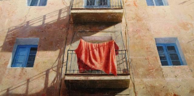 , 'Llençol vermell,' 2017, Sala Parés