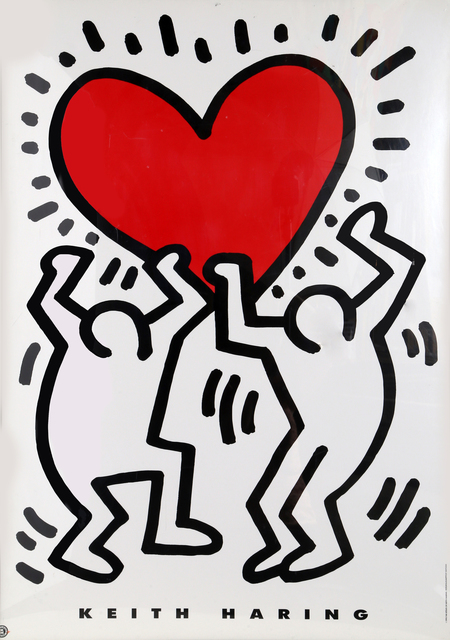Keith Haring, 'Holding a Heart', 1993, RoGallery