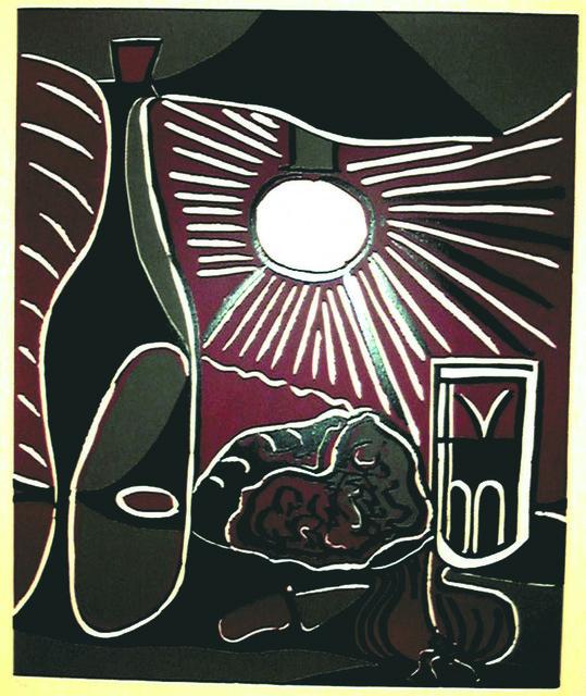 Pablo Picasso, 'Nature Morte a la Bouteille', 1962, Print, Color linocut, Marlborough New York