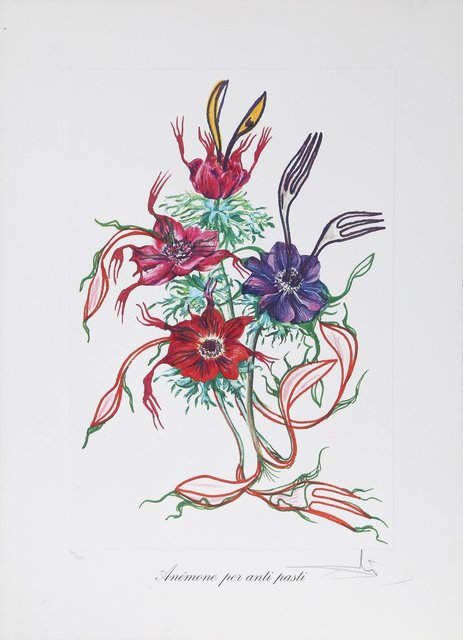 Salvador Dalí, 'Anenome per anti pasti (Anenome of the Toreador) from Florals', 1972, Print, Lithograph with embossing on heavy Arches paper, Heritage Auctions