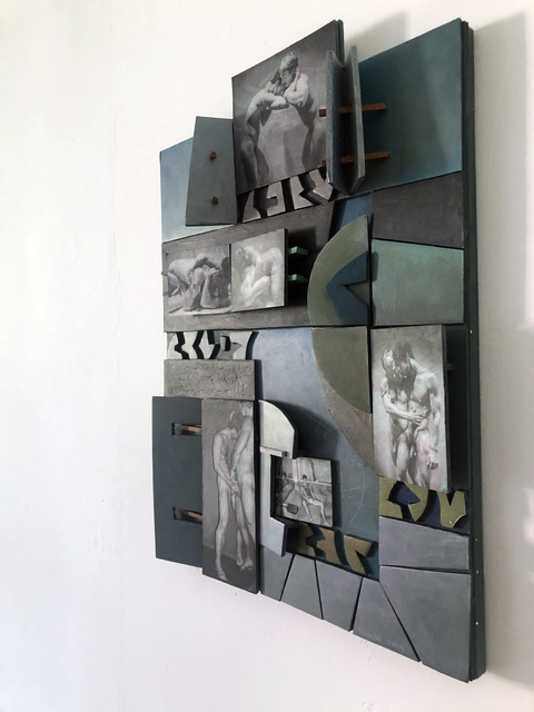 Tom Bianchi, 'Bob and Mike 1', 2018, Painting, Canvas, museum board, wood, paper, acrylics, metallic paint, ink jet photographs, New Discretions
