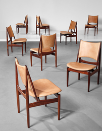 Rare set of eight 'Egyptian' dining chairs, model no. FJ 49
