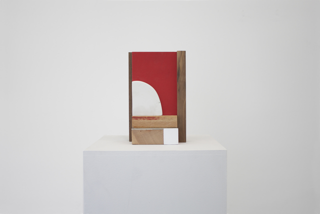 , 'Untitled (red and white plaster tablet),' 2015, Ochi Projects
