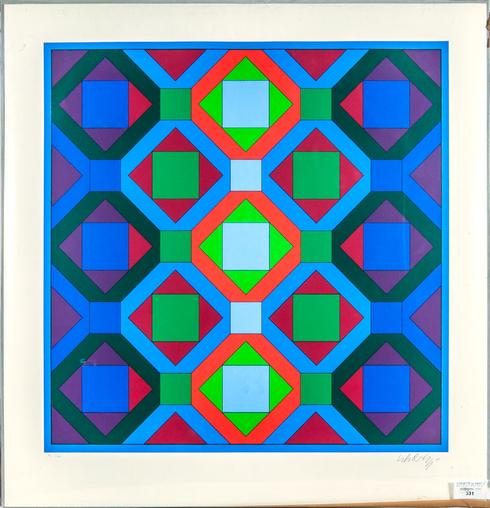 Victor Vasarely, 'Octogonal structures', 1969, Kunzt Gallery