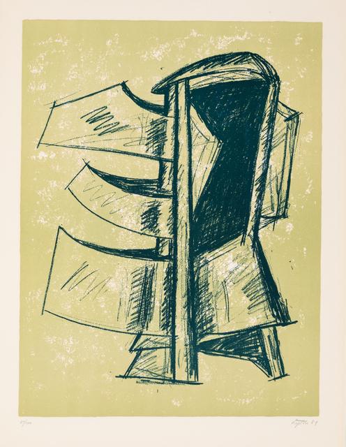 Seymour Lipton, 'A Group of Three Works: Study of Sculpture I, Study of Sculpture II, and Study of Sculpture III', 1969, Print, Lithographs, Hindman