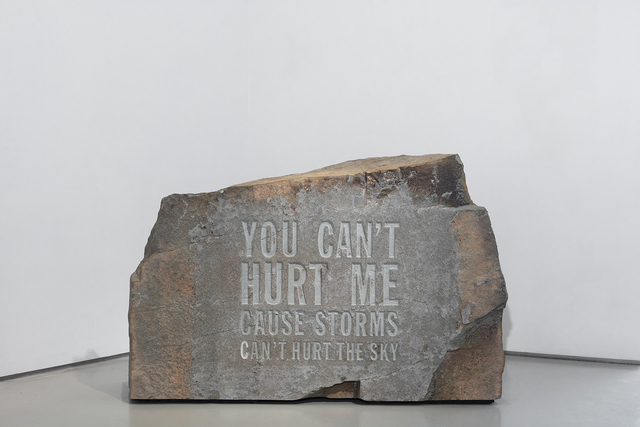 John Giorno, 'YOU CAN'T HURT ME CAUSE STORMS CAN'T HURT THE SKY', 2019, Sperone Westwater