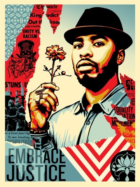 Shepard Fairey (OBEY), 'Embrace Justice', 2018, Dope! Gallery