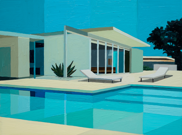 , 'Wexler in Bright Blues,' 2016, Sue Greenwood Fine Art