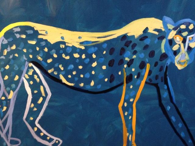 , 'Turquoise Leopard,' 1995, Galerie Brigitte Schenk