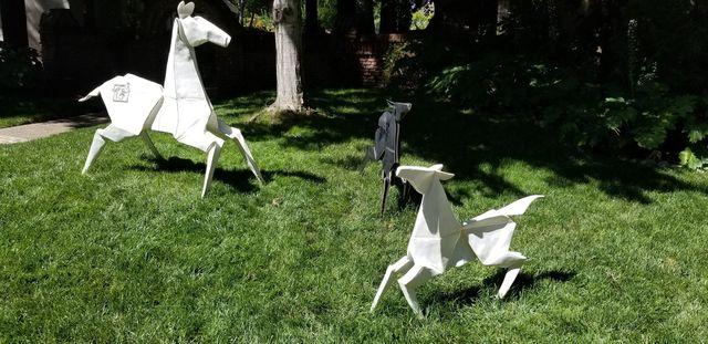 , '[ 1 ] [ 2 ] Ponies (3 separate sculptures),' , ÆRENA Galleries and Gardens