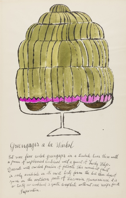 Andy Warhol, 'Greengages a la Warhol (from Wild Raspberries) (see Feldman & Schellmann IV.143.A)', 1959, Forum Auctions