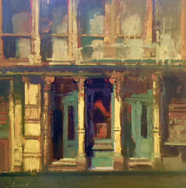, 'Green Doors,' 2017, Sue Greenwood Fine Art