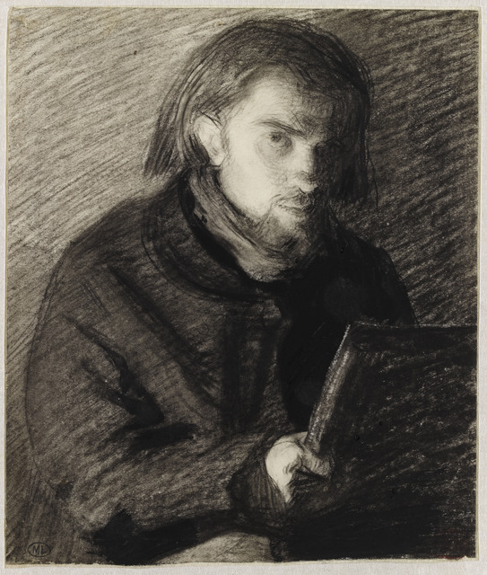 , 'Autoportrait dessinant ,' 1860, Musée du Luxembourg