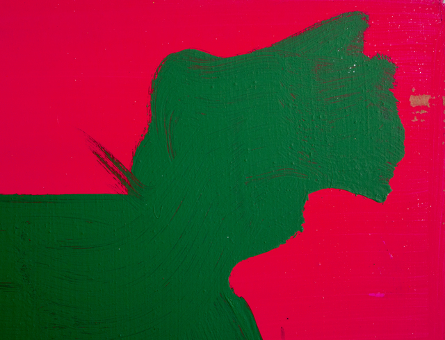 Peter Mayer, 'Dog (Green on Cerise)', circa 1990, Painting, Acrylic on Canvas, RoGallery