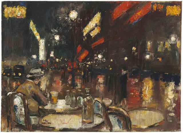 , 'Café de la Paix bei Nacht, Paris,' 1928, Ludorff