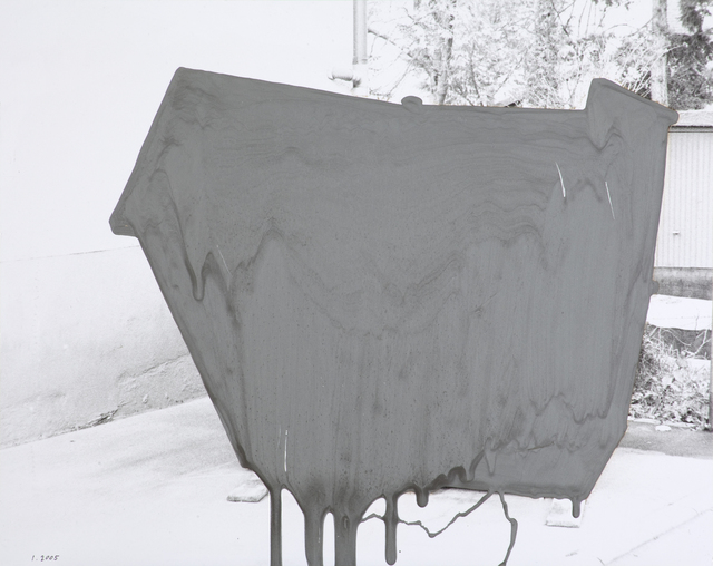 John Beech, 'Coated Drawing # 131 (silver)', 2005, Oliver Sears Gallery