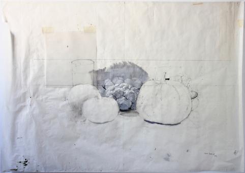 """, '""""Bodegón con calabaza y coliflor"""",' 2014, Sala Parés"""