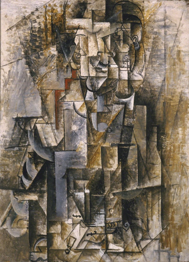 Pablo picasso man with a violin 1911 1912 artsy for Picasso painting names