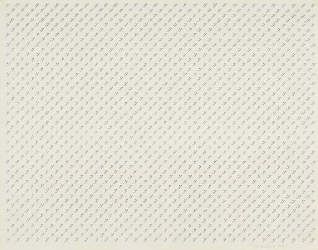 , 'Espai blanc amb ratlles,' 1973, Ana Mas Projects