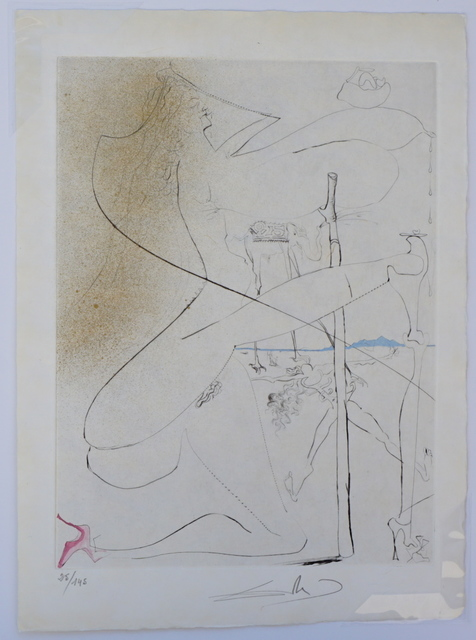 Salvador Dalí, 'La Venus aux Fourrures Woman With Crutch', 1968, Print, Etching, Fine Art Acquisitions Dali