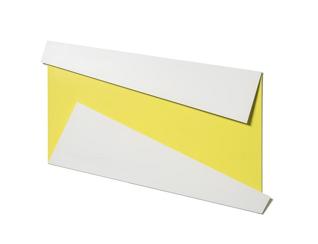 , 'XL Folded Flat White & Yellow,' 2019, Galerie Nikolaus Ruzicska