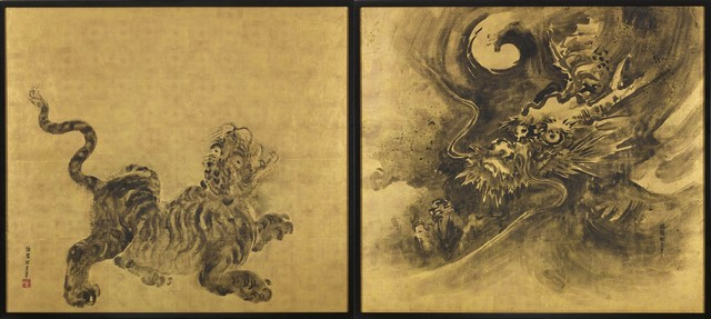 , 'Dragon  and  Tiger    ,' 18th century-Edo Period, Gregg Baker Asian Art
