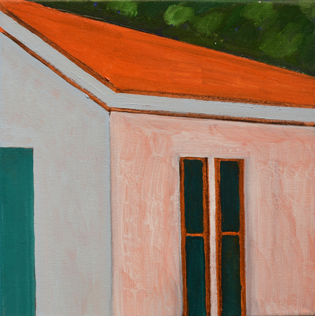 , 'Orange Roofline,' 2018, Carter Burden Gallery