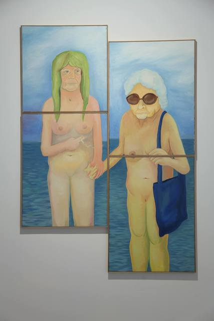 , 'Two females holding hands with sea in the background,' 2017, SABSAY