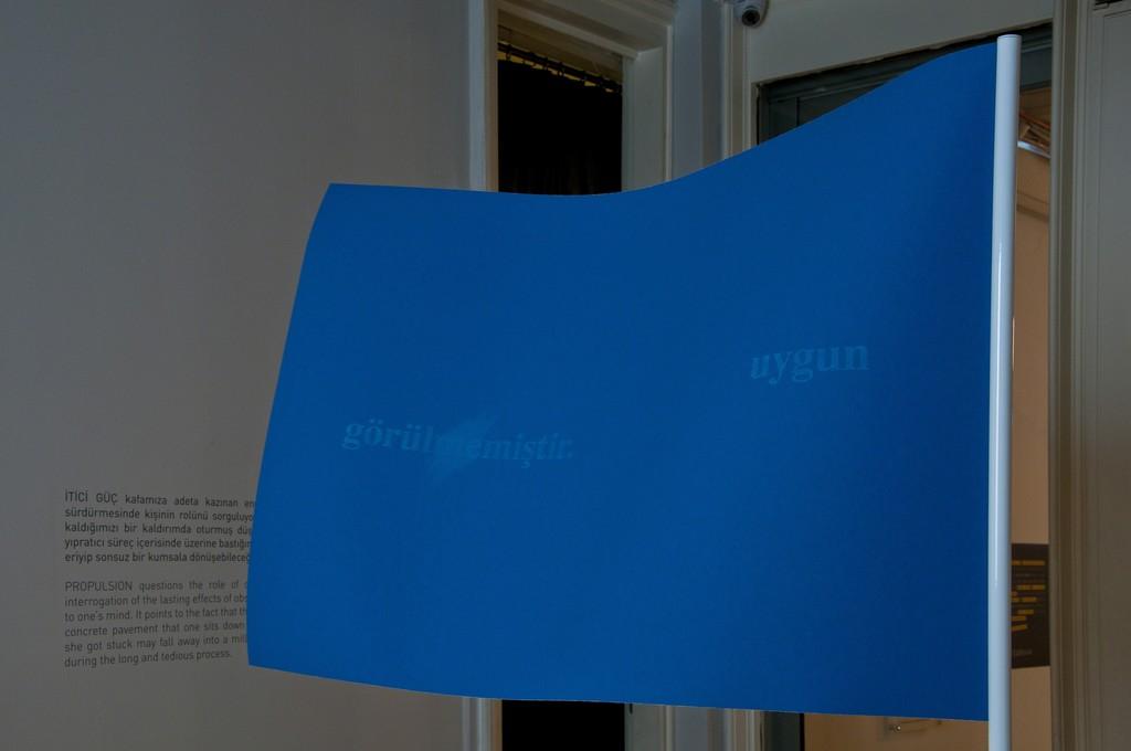 """""""Uygun Görülmemiştir / Not Approved"""", 2014, Sandpaper, 100x70 cm, Ed. 5+2 A.P."""