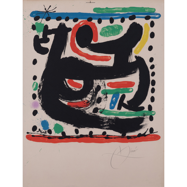 Joan Miró, 'Poster for the opening of the Mourlot workshop in New York', 1967, PIASA