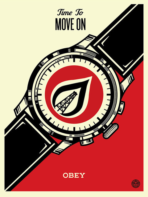 Shepard Fairey (OBEY), 'time to move on', 2015, Rudolf Budja Gallery