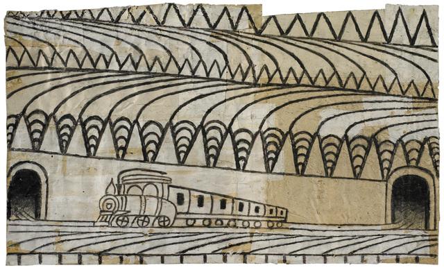 , 'Untitled (Triangle Landscape with Train),' ca. 1960, Ricco/Maresca Gallery
