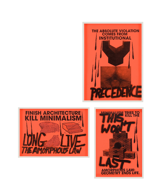 Sterling Ruby, 'ANTI-PRINT POSTER (1-3)', 2007, Ever Gold [Projects]