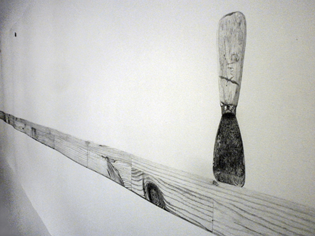 , 'Untitled drawing (Scrap Lumber) (detail),' 2011, Robert Kananaj Gallery