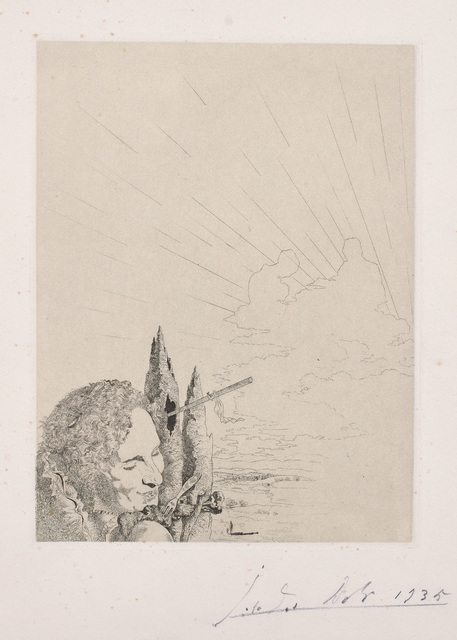 Salvador Dalí, 'Les Chants de Maldoror (Songs of Maldoror): plate 9', 1935, Print, Etching over heliogravure, on wove paper with watermark, with full margins., Phillips