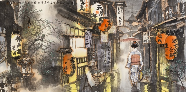 Zi Jiang Wang 王子江, 'Grace and the Narrow Reticent Streets', 2017, White Space Art Asia