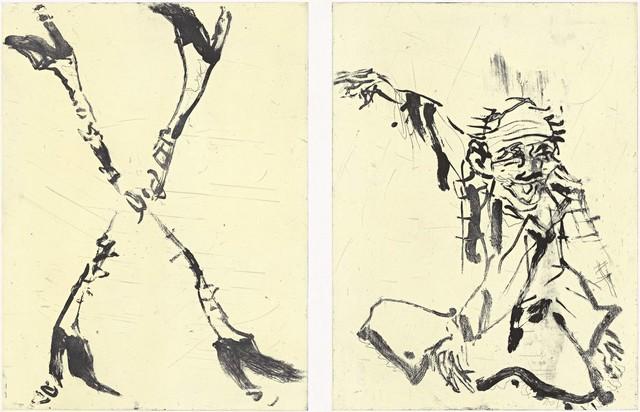 , 'Besuch von Hokusai II,' 2015, Galerie Sabine Knust
