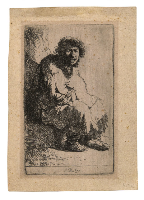 , 'Beggar Seated on a Bank,' 1630, David Tunick, Inc.