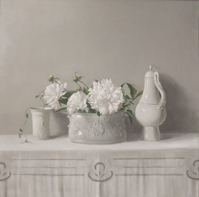 , 'Untitled (Still Life, Decorative Pot with Peonies in Porcelain Planter, Goose Pitcher),' 1996, Jason McCoy Gallery