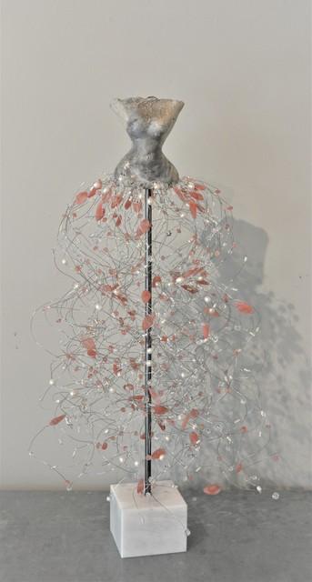 , 'White Raku Torso, Quartz, Pearls, Strawberry Quartz,' 2019, Shain Gallery