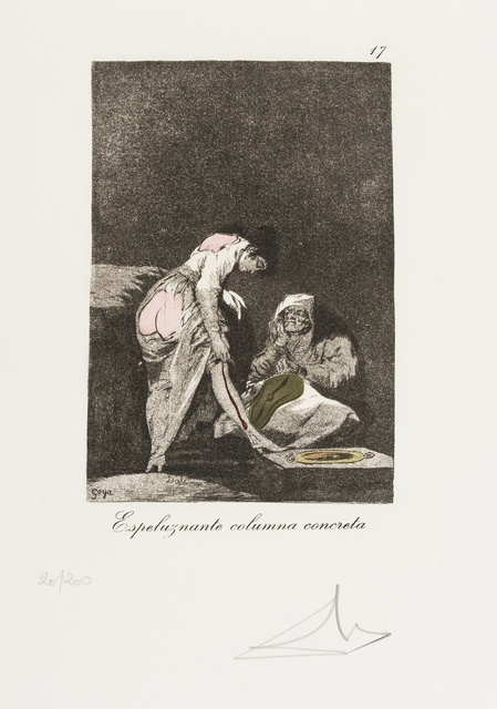 Salvador Dalí, 'Plate 17 (From Les Caprices de Goya de Dali) (M & L 864; Field 77-3-64)', 1977, Print, Drypoint on heliogravure with stencil, Forum Auctions
