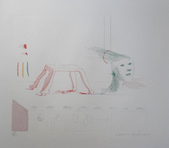 David Hockney, ''Moving Still Life' (from The Blue Guitar) ', 1977, Tanya Baxter Contemporary