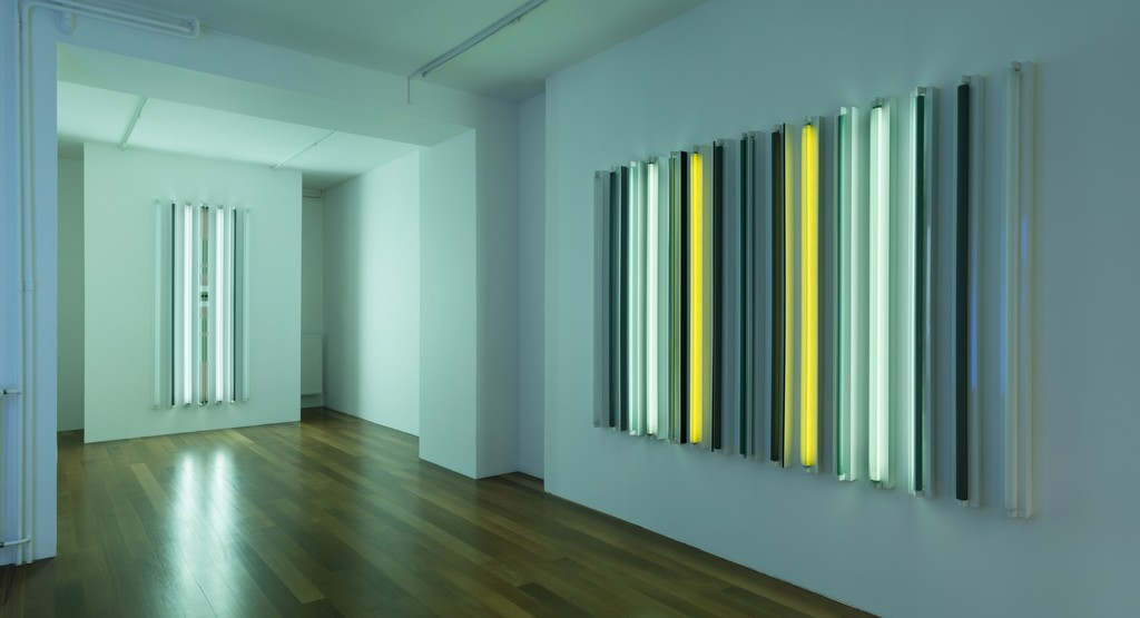Exhibition View, Robert Irwin, Galerie Xippas, Geneva, Switzerland, 2015. © Philipp Scholtz Rittermann
