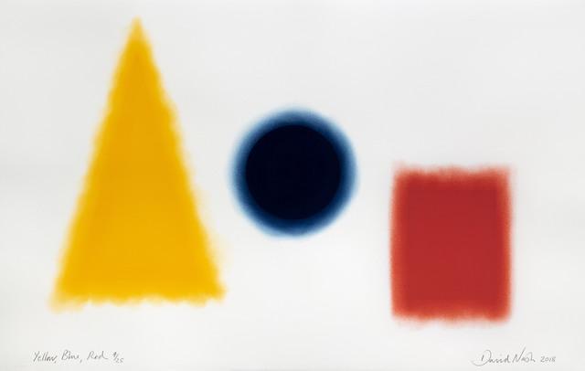 David Nash, 'Yellow, Blue, Red', 2018, Print, Pastel stencil on paper, Cristea Roberts Gallery