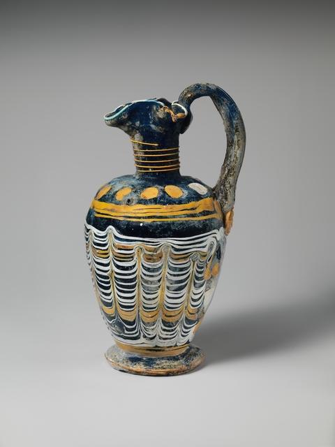 Unknown Greek, 'Glass oinochoe', mid-4th–early 3rd century B.C., The Metropolitan Museum of Art