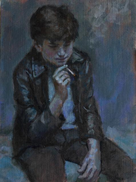 , 'KID SMOKING (THREE),' 2018, La Luz de Jesus Gallery