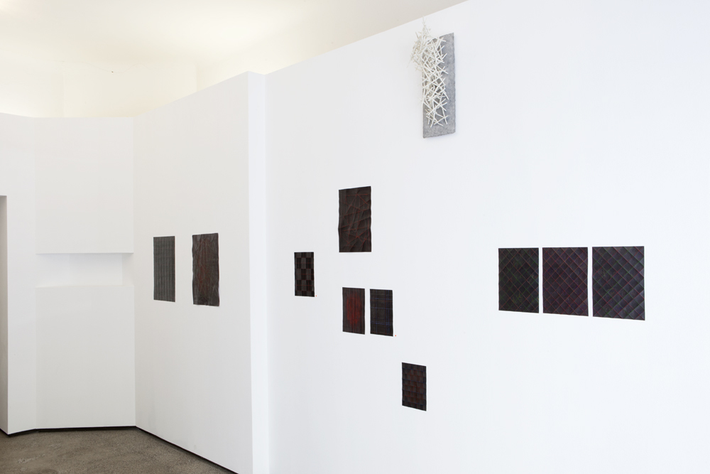 Installation show of 'Folded Drawings / Faltzeichnungen' with smaller works; photo: gallery