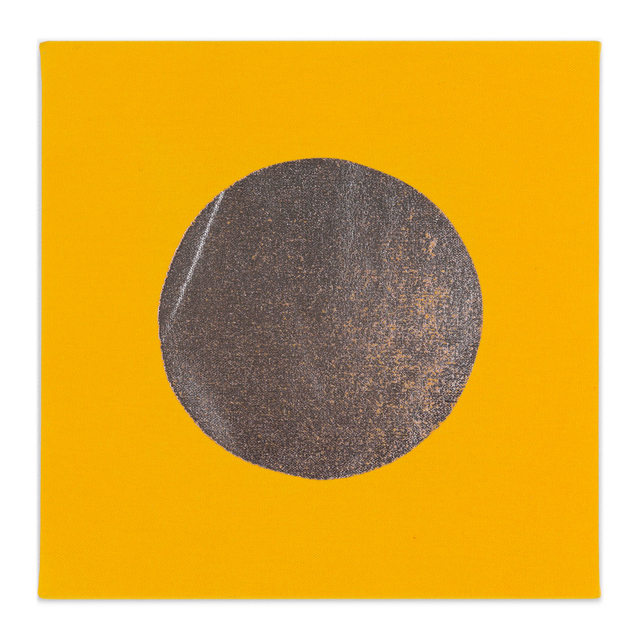 Chad Kouri, 'Reflection Pool Yellow (1x1)', 2021, Painting, Foil on dyed canvas, Uprise Art